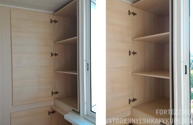 Встроенный распашной шкаф на лоджии (531).