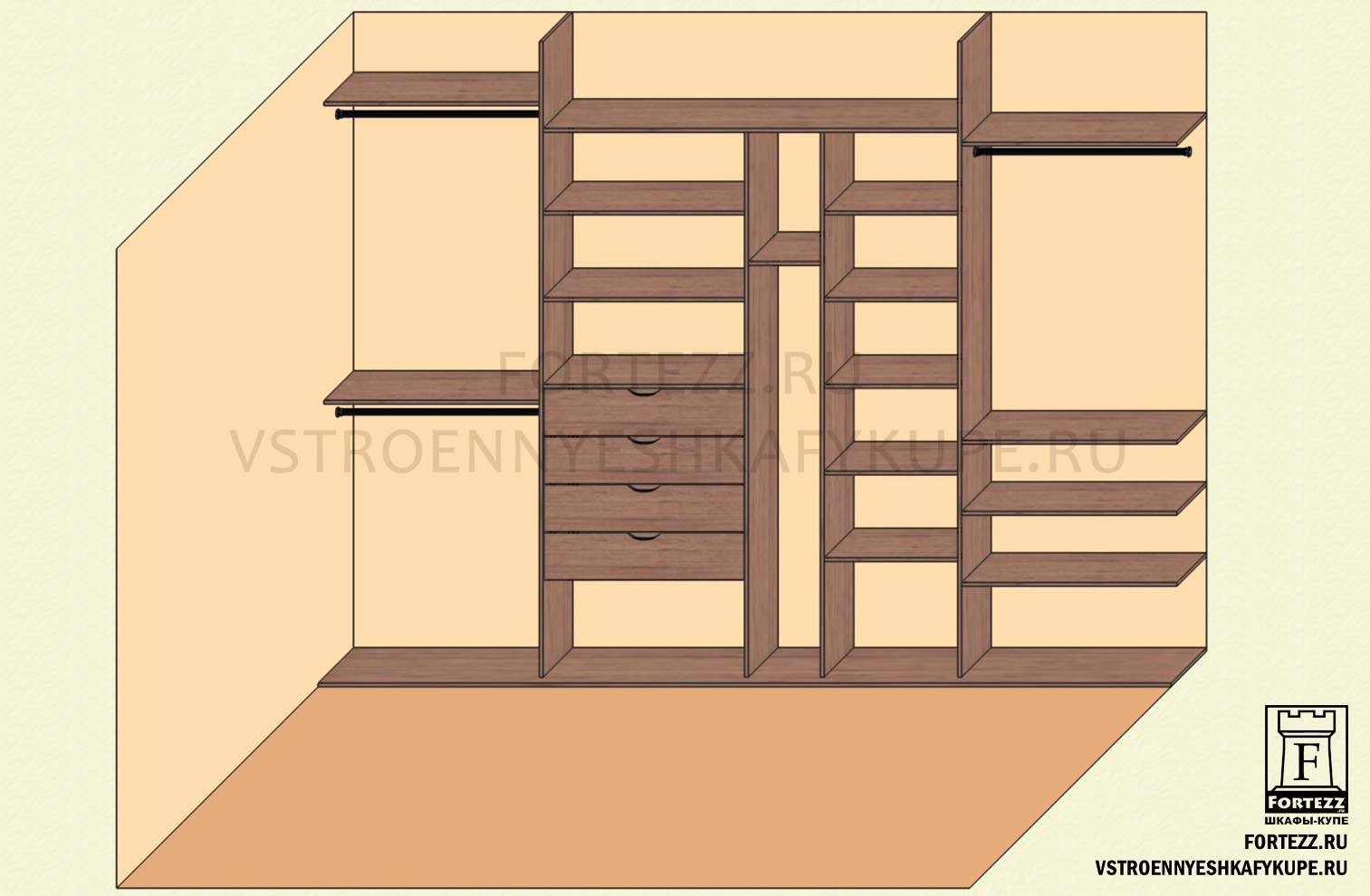 Шкаф купе 4 метра схема
