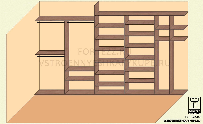 Встроенные шкафы купе схема фото 516